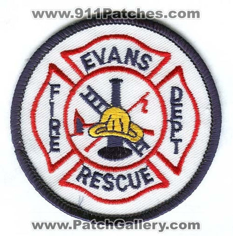 Evans Fire Rescue Department Patch Colorado CO