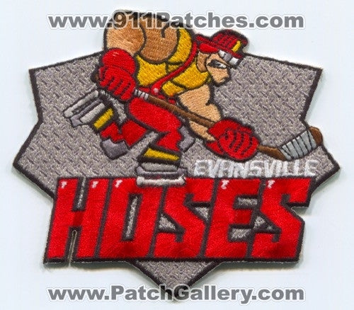 Evansville Hoses Hockey Team Fire Department Patch Indiana IN