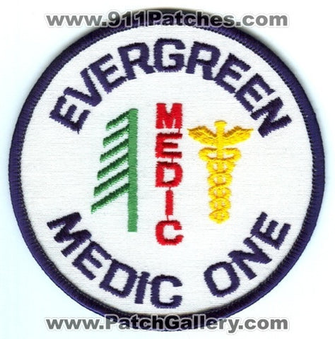 Evergreen Medic One EMS Patch Washington WA