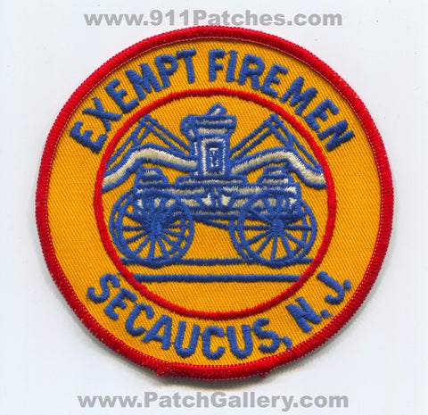 Exempt Firemens Association Secaucus Fire Department Patch New Jersey NJ