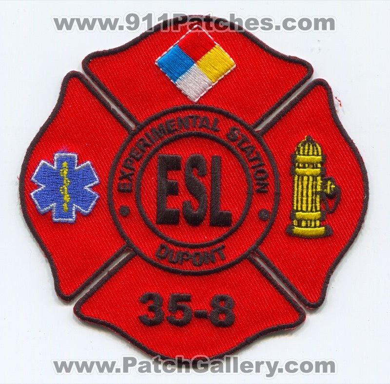 Dupont Experimental Station ESL Fire Department 35-8 Patch Delaware DE