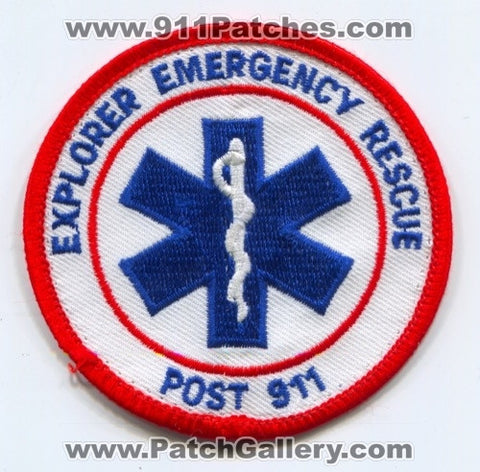 Explorer Emergency Rescue Post 911 EMS Patch Unknown State