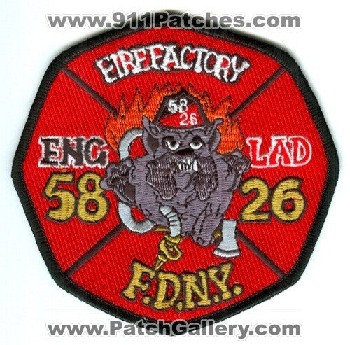 New York City Fire Department Engine 58 Ladder 26 Patch New York NY
