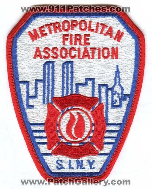 New York City Fire Department Metropolitan Fire Association Patch New York NY