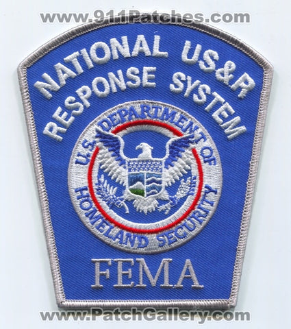 National USAR Response System NDMS Federal Emergency Management Agency FEMA Patch Washington DC