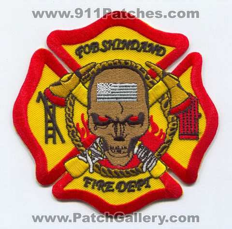 Afghanistan - Forward Operating Base FOB Shindand Fire Department Military Patch