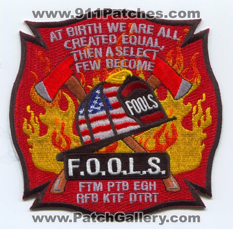 Michigan FOOLS Fraternal Order of Leatherheads Society Fire Patch Michigan MI - SKU18 SKU266