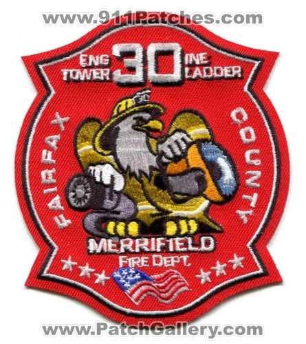 Fairfax County Fire Department Station 30 Patch Virginia VA