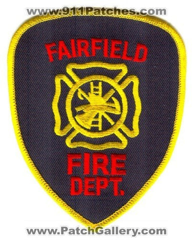 Fairfield Fire Department Patch Unknown State