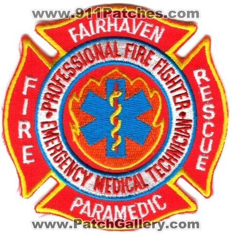 Fairhaven Fire Rescue Department Paramedic Patch Massachusetts MA