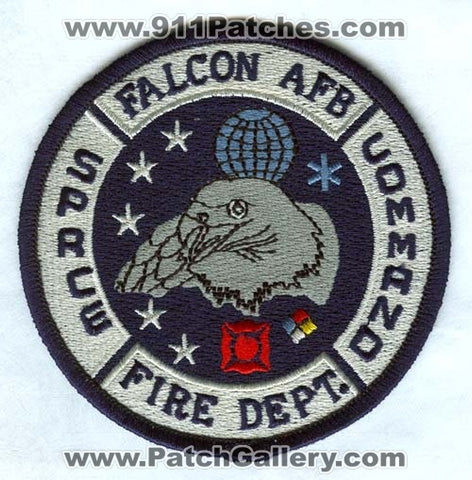 Falcon Air Force Base AFB Fire Department Space Command USAF Military Patch Colorado CO