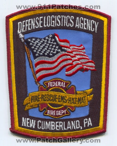Federal Fire Department New Cumberland Defense Logistics Agency DLA Patch Pennsylvania PA