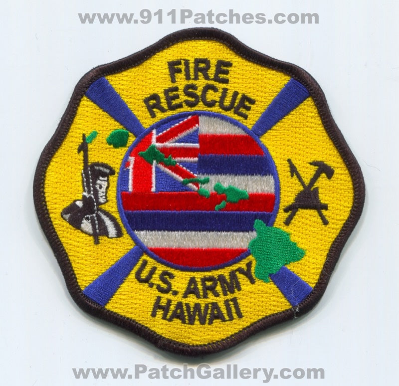 Federal Fire Rescue Department US Army Military Patch Hawaii HI