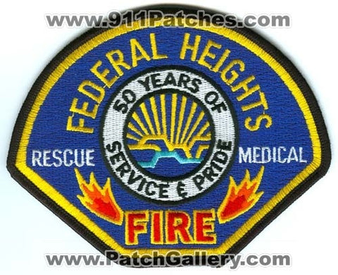 Federal Heights Fire Department Patch Colorado CO