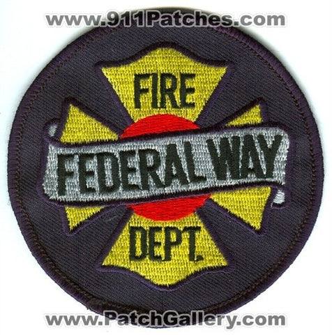 Federal Way Fire Department Patch Washington WA