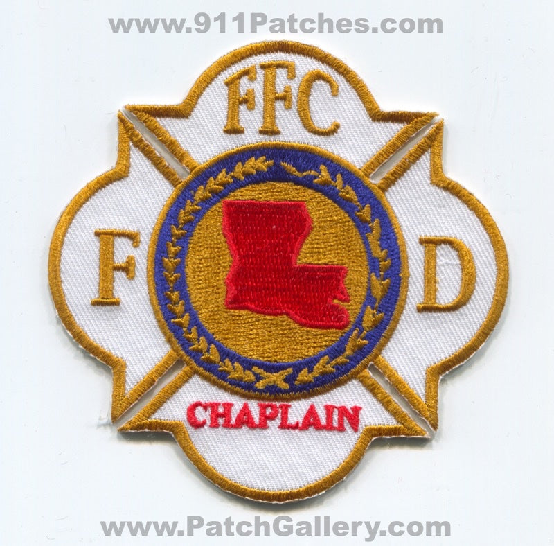 Federation of Fire Chaplains FFC Fire Department Patch Louisiana LA