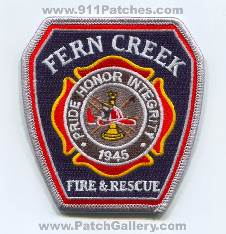 Fern Creek Fire and Rescue Department Patch Kentucky KY