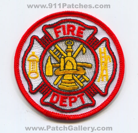 Fire Department Patch No State Affiliation Blank Generic Stock
