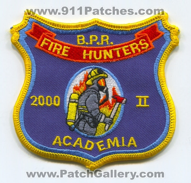 BPR Fire Hunters 2000 II Academia Fire Department Patch Unknown State