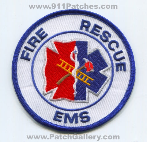 Fire Rescue EMS Department Patch No State Affiliation Blank Generic Stock