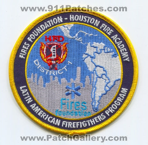 Fires Foundation Houston Academy Latin American Firefighters Program Patch Texas TX