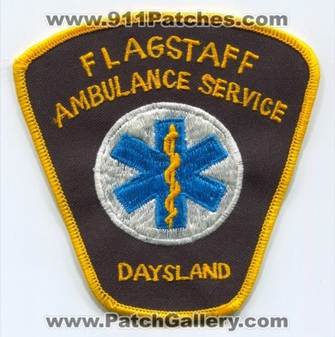 Flagstaff Ambulance Service Daysland EMS Patch Arizona AZ