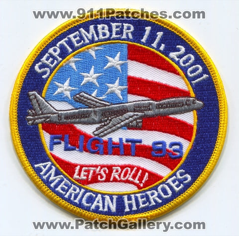 Flight 93 American Heroes Patch Pennsylvania PA Fire Police EMS Ambulance