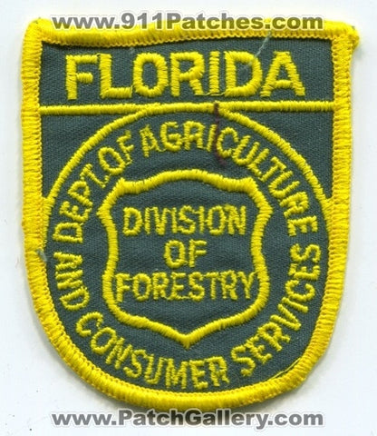 Florida Department of Agriculture Division of Forestry Wildland Fire Patch Florida FL