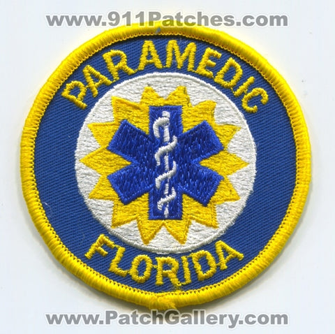 Florida State Certified Paramedic EMS Patch Florida FL