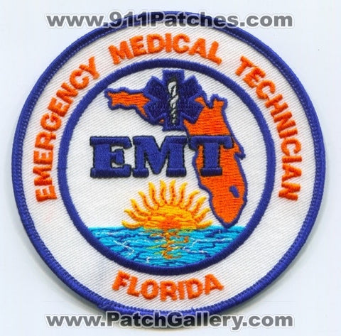 Florida State Emergency Medical Technician EMT EMS Patch Florida FL