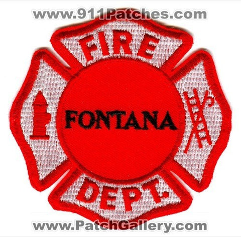 Fontana Fire Department Patch Wisconsin WI