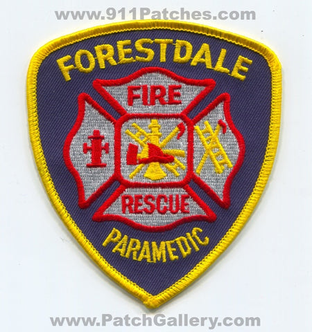 Forestdale Fire Rescue Department Paramedic EMS Patch Alabama AL
