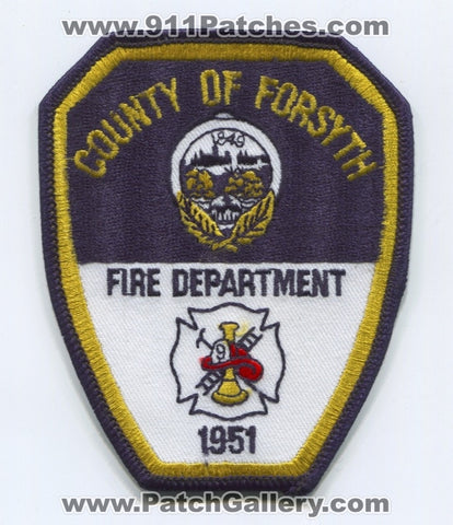 Forsyth County Fire Department Patch North Carolina NC