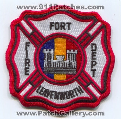 Fort Leavenworth Fire Department US Army Military Patch Kansas KS