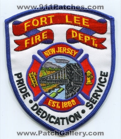 Fort Lee Fire Department Patch New Jersey NJ