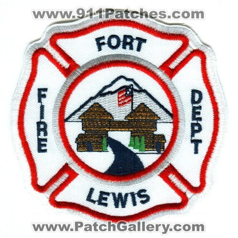 Fort Lewis Fire Department US Army Military Patch Washington WA