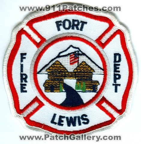 Fort Lewis Fire Department US Army Military Patch Washington WA v2