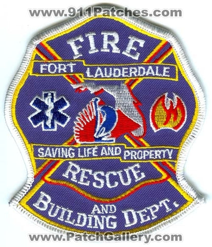 Fort Lauderdale Fire Rescue and Building Department Patch Florida FL