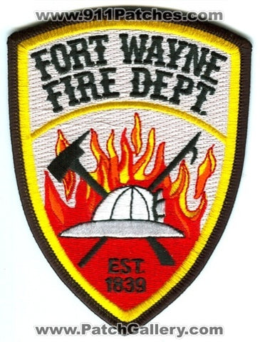 Fort Wayne Fire Department Patch Indiana IN