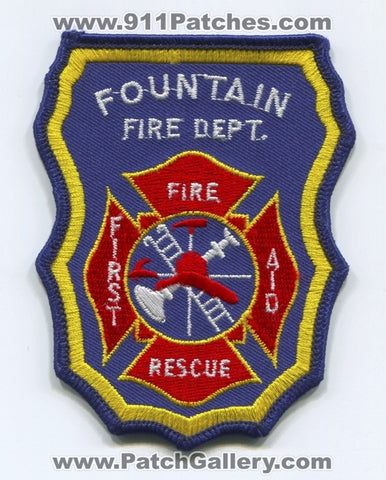 Fountain Fire Department Patch Colorado CO