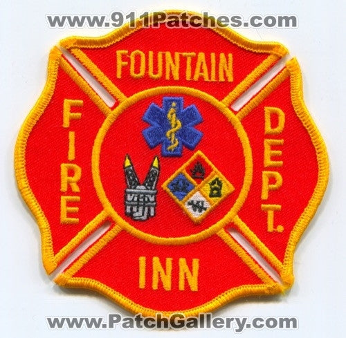 Fountain Inn Fire Department Patch South Carolina SC