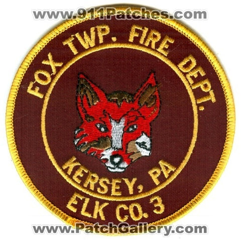 Fox Township Fire Department Elk Company 3 Kersey Patch Pennsylvania PA