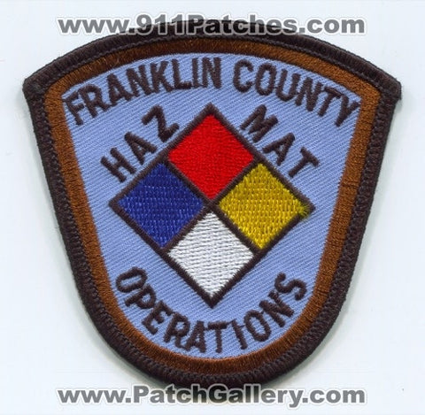 Franklin County Haz Mat Operations Patch Unknown State