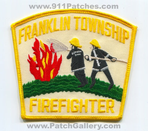 Franklin Township Fire Department Firefighter Patch Unknown State