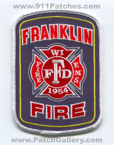 Franklin Fire Department Patch Wisconsin WI