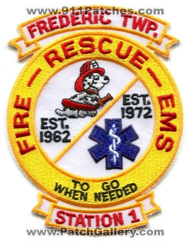 Frederic Township Fire Department Station 1 Patch Michigan MI