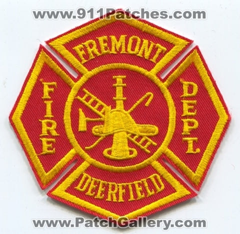 Fremont Deerfield Fire Department Patch Michigan MI