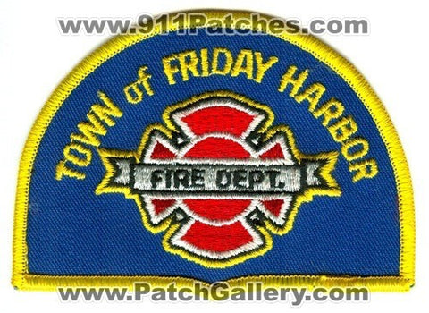 Friday Harbor Fire Department Patch Washington WA