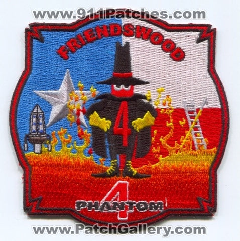 Friendswood Fire Department Phantom 4 Patch Texas TX
