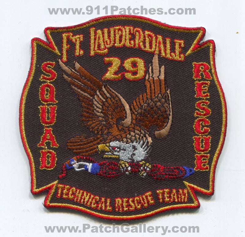 Fort Lauderdale Fire Department Station 29 Technical Rescue Team Patch Florida FL